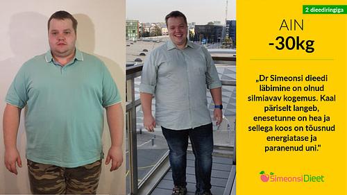 TV3 Naudime Elu: Ain kaotas kahe Dr Simeonsi dieediringiga 30kg